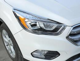 $enCountryForm.capitalKeyWord Canada - High quality ABS chrome car front headlamp decoration trim cover frame+ taillight decoration trim frame For Ford escape kuga 2013-2018