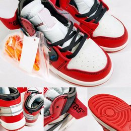 Off bOy online shopping - Kids Off Shoes Jam Bred Concord Gym J1s White Blue Red Basketball Shoes Children Boy Girls Sorts Sneakers Toddlers Birthday With Box