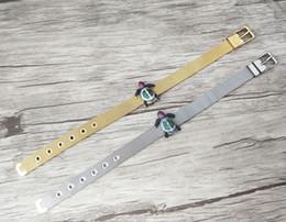 Micro Pave Connectors Australia - 5Pcs Turkish Style tortoise Double Bails Connector,Micro pave CZ zircon Strap bracelet,adjustable bracelet women Jewelry BG181