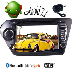 Gps Kia Rio Canada - Double 2 Din Car Stereo Android 7.1 car dvd GPS Navi Quad-core Autoradio Bluetooth WiFi Headunit for KIA K2 2011-2012 Vehicles Mirrorlink