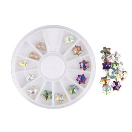 $enCountryForm.capitalKeyWord UK - BEAUTY7 Crystal Shiny Colorful Rhinestones Glitter Wheel Nail Art Decorations 5 Stars DIY Studs Manicure Nail Jewelry Supplies