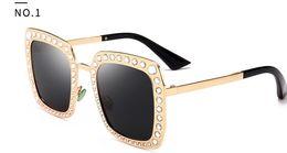 street style cat 2019 - Foreign trade cross - border platform hot style with diamond polarized sunglasses women Europe and America street box su