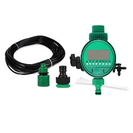 Drip System Hose NZ - 10m DIY Micro Drip Irrigation System Plant Self Automatic Watering Timer Garden Hose Kits With Adjustable Dripper