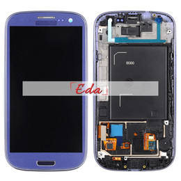Galaxy S3 Touch Screen Assembly Australia - 1Pcs for Galaxy S3 LCD display touch screen digitizer assembly I9300 lcd with touch screen+frame+tempered galss+tools