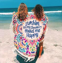 Bohemian tapestries online shopping - Summer Beach Round Mat Bohemian Tapestry Mat Hippie Picnic Thin Cover Yoga Throw Mat Chiffon Polyester Towel