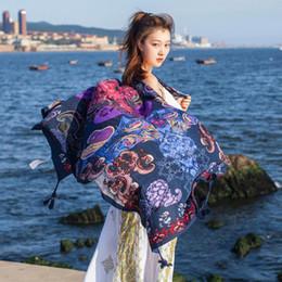 cotton hijab scarf design 2019 - 2017 New Design Bandana Ethnic Cotton Warm Scarf For Women Hijab Tassel Printed Women Wraps Winter Autumn Ladies Shawls