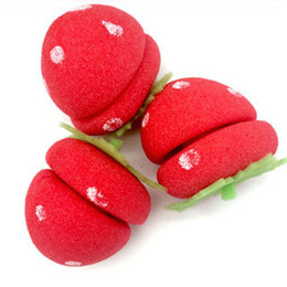 $enCountryForm.capitalKeyWord Australia - 250bags Rollers Curlers Strawberry Balls Hair Care Soft Sponge Lovely DIY Tool Wholesale