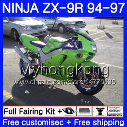 1994 Kawasaki Fairing Kits NZ - Body factory green hot For KAWASAKI NINJA ZX900 ZX9R 94 95 96 97 221HM.21 ZX 9R 94 97 ZX 9 R 900 900CC ZX-9R 1994 1995 1996 1997 Fairing kit