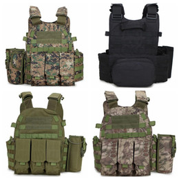 Chinese  Outlife Camouflage Hunting Tactical Seal Vest Wargame Body Molle Armor Hunting Vest CS Outdoor Jungle Equipment LJJD17 manufacturers