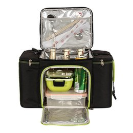 Picnic Ice Packs Australia - 28L big capacity thermal cooler bag picnic lunch box insulated cool handbags ice pack vehicle insulation family picnic bags