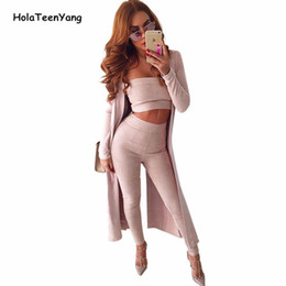 31fce3ac911 Wholesale- HolaTeenYang Pink Sexy Strapless Two Piece Overalls Women  Jumpsuit 2017 Off Shoulder Playsuit Backless Bodycon Jumpsuits Rompers