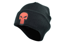 Winter accessories for Women online shopping - Men women Beanie Man Winter Hat for Punisher Cap Beanie Skulls Skeleton Black Knitted Caps Adult Men Boys fashion accessories