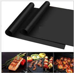 Ingrosso antiaderente riutilizzabile Teflon BBQ Grill tappetino griglia extra spessa FDA teflon mat mat BBQ tool