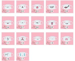 dust free face masks 2018 - Wholesale Free Shipping Pure Cotton White Anime Emoticon Mouth-Muffle Kaomoji Anti-Dust Cute Kawaii Lovely Face Mask dis