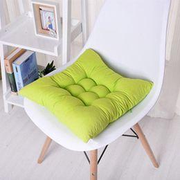 Green Office Chairs Australia - 40x40cm 45x45cm Plaid Chair Cushion Mat Pad Meditation Cushions Mat Pad Seat Cushions Coussin Decoration For Home Office Sofa