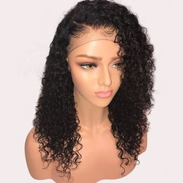 Discount free human hair wigs - Free Shipping 150% Curly Lace Front Human Hair Wigs Pre Plucked With Baby Hair Brazilian Remy Hair Glueless Lace Front W