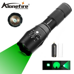 Green Hunting Flashlights NZ - AloneFire E17 Zoomable Scalable CREE LED 300Yards Long Range Green Hunting Light Tactical Flashlight Green Light Torch Fishing