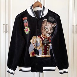 Men sequin online shopping - 2018 Autumn Fashion Jacket Men Jacket Men s Baseball uniform Casual Jackets Male Coat Crown leopard embroidery Men Coat Outwear Couple