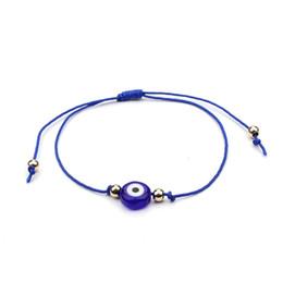 Fiber bracelet online shopping - Friendship Bracelets Evil Eye Woven Bracelet Fashion Concise Style Turkey Eye Ornaments Pure Color Hot Sale bd ff