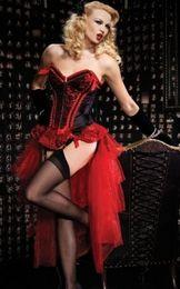 hot sexy tutus 2019 - Free Shipping! hot selling new sexy long burlesque skirt corset costume Burlesque Corset & tutu  skirt Fancy dress outfi