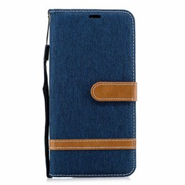 $enCountryForm.capitalKeyWord UK - Leather Wallet Case For Sony Xperia XA3 Samsung Galaxy A7 2018 A750 Huawei Honor 8C Jean Hybrid Hit Color Canvas Flip Cover PU Pouch Strap
