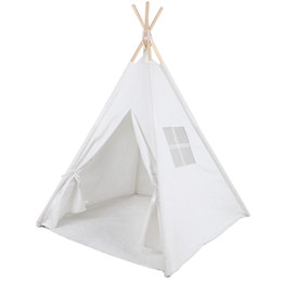 outdoor toys for NZ - Toy Tents Foldable Teepee Room Decor Children Play House Indian Tent For Indoor Outdoor Play Children Wigwam
