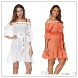 beach cover up shirt 2021 - Summer bikini beach cover ups dresses women short-sleeved bohemian seaside holiday sunscreen blouses shirts hollow swimwear beachwear tops