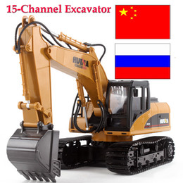 electric remote control airplanes 2018 - Car remote control excavator toys for children rc hydraulic excavator model carro de controle remoto cheap electric remo