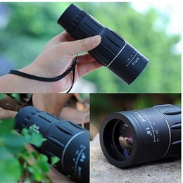 16x52 hd monocular telescopes online shopping - Pocket Mini Monocular Telescope X52 HD Telescopes Night Optic Lens Clear And Comfortable Vision Black Travel Supplies sj Ww