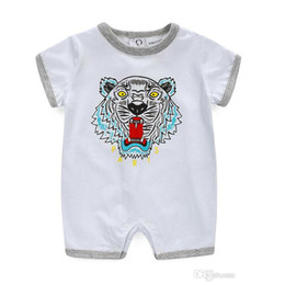 Lovely Jumpsuits Australia - Baby Bodysuit Summer Lovely Tiger Print Girl Clothes Babies Boy Clothing Fashion Baby Dresses Newborn Baby Clothes Infant Jumpsuits Romper