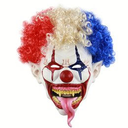 Full Face Clown Mask Australia - Halloween Mask Spiked Hair Clown Full Face Latex Terror Crown masks Horror Mask For Halloween Cosplay Party NightClub M18110603A