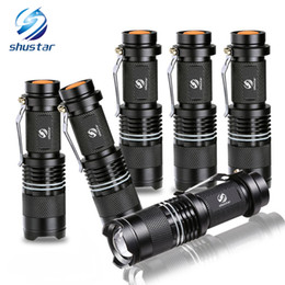 Tactical Mini Torches Australia - Mini powerful led flashlight Q5 2000 Lumens torch with luminous ring zoomable flashlight 3 modes led torch use AA