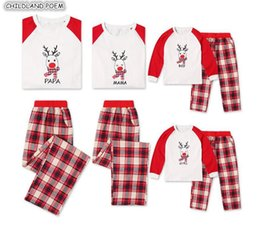 Father Daughter Matching Clothes Australia - Family Christmas Pajamas Set Plaid Mother Daughter Father Kids X-mas Pjs Family Matching Sleepwear Clothes Look Nightwear