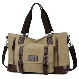$enCountryForm.capitalKeyWord Canada - Large Casual Canvas Men Travel Bags Patchwork Leather Luggage Travel Bag Men Male Shoulder Duffel Bags Messenger 1324