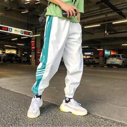 Wholesale pantalones hip hop hombre resale online – Fashion Hip Hop Men Pants Lace up Joggers Pants Loose Streetwear Trousers Mens sweatpants pantalones de hombre