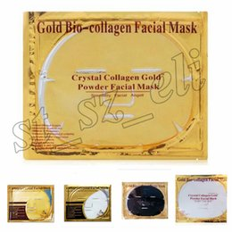 powdered face mask Canada - 24K Gold Powder Bio Collagen Mask Albumen Crystal facial Mask Girl Woman Skin Care Gel face mask masks Facial Peels 5 types