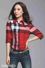 Han Fan NZ - 2018 nueva BBR y camisa a cuadros arco iris con manga larga ins súper camisa popular mujer fan ropa Han c76