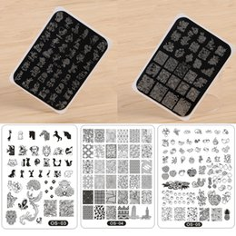 $enCountryForm.capitalKeyWord NZ - Nail Art Stamping Template Animal Cartoon Fruit Printing Image Plate 10.5*14.5 cm Nail Stamp with Backplane 5Models to Choose