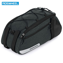 bicycles free shipping NZ - ROSWHEEL Bike Trunk Bag Mountain Road Bicycle Multifunctional Cycling Rear Seat Rack Trunk Bag Carrier Shoulder Bag Hot Sell Free Ship