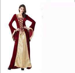 1d3ac5d641b8 Halloween cosplay costume costume pirate princess vampire princess dress  costume witch retro court suit Siamese bat pants free shipping