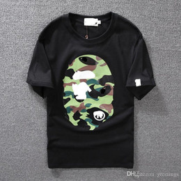 $enCountryForm.capitalKeyWord Australia - Men ' S Clothing Wear Tide Brand Camo Printing Men Women Lovers Fund Round Neck Short Sleeve T Shirt