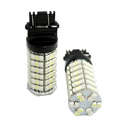 Car Led Side UK - 2pcs Car T25 3157 3057 3457 4157 Switchback 120SMD-1210 White Amber Yellow Dual Color LED Light Bulbs #4007
