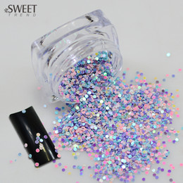 Discount color glitter tips - SWEET TREND 1 Bottle Mixed Color Nail Mini Round Glitter Thin Paillette Nail Decoration Stickers Bright Color Bottle Tip