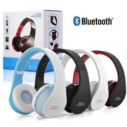 Wireless Usb Music Headphones NZ - Bluetooth Wireless Headphones NX-8252 Foldable Stereo Audio Sport Music Gaming Headset Earphones for Smart Phone Computer