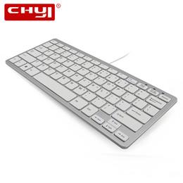 Thin mini lapTop online shopping - CHYI Ultra Thin Slim Keys Mini Portable USB Wired Keyboard Mini Keyboard For PC Computer Laptop iMac Macbook Windows XP