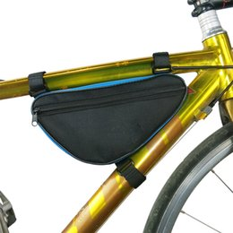 Discount yellow bicycle road saddle - B-SOUL Road Bike Triangle Pouch Cycling Bag Bicycle Front Tube Frame Saddle Holder Stitching Bag AB0008