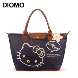 $enCountryForm.capitalKeyWord NZ - DIOMO Hello Kitty Bag Waterproof Large Beach Bags for Women Foldable Big Shopping Bag Multipurpose Tote Female sac