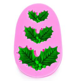 $enCountryForm.capitalKeyWord UK - Christmas leaves Shaped silicone mold for confectionery chocolate fondant cake decoration baking used molding tools FT-1031
