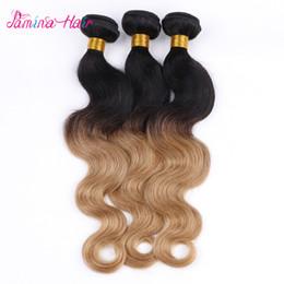 Wholesale Ombre Malaysian Virgin Hair 4 Bundles Body Wave Two Tone Ombre Malaysian Hair Bundles Human Hair Ombre Malaysian Body Wave