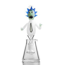 $enCountryForm.capitalKeyWord UK - Blue Hair Jade Clown 20CM Height Green Face White Body Oil Rig Glass Bong Dab Rig Bongs 14mm Joint Glass Bongs